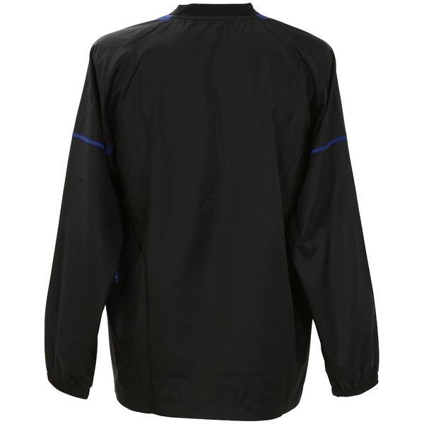(セール)ASICS(アシックス)バレーボール ウェア ウォームアップシャツLS XWW621.9045 BLK/BLU