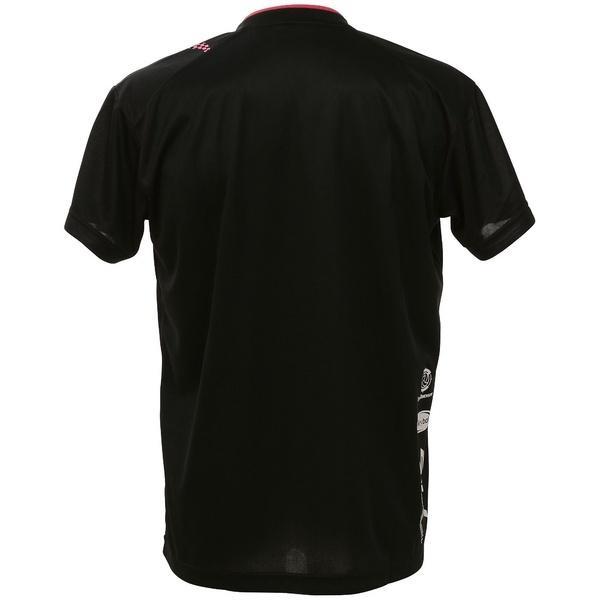 (セール)ASICS(アシックス)バレーボール 半袖プラクティスシャツ プラシャツHS XW6625.9017 BLK/PNK