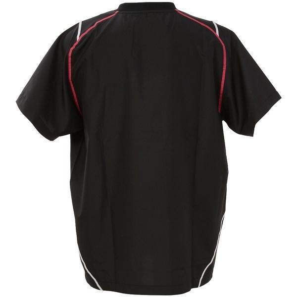 (セール)ASICS(アシックス)バレーボール ウェア ウォームアップシャツHS XWW622.9017 BLK/PNK