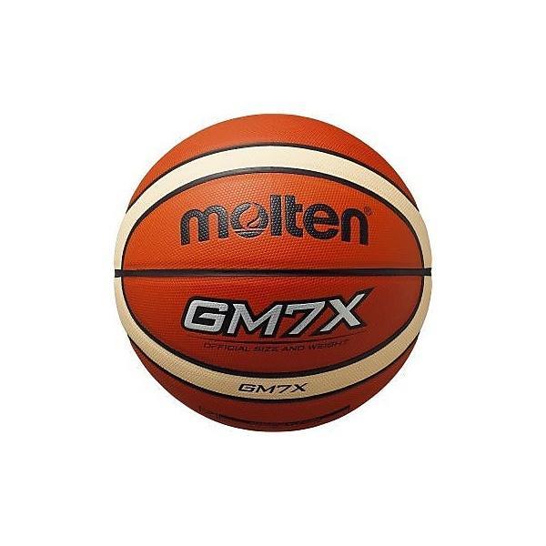 molten(モルテン)バスケットボール 7号ボール GM7X 人工皮革バスケットボール BGM7X-TI メンズ 7号球 オレンジxアイボリー