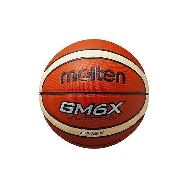 molten(モルテン)バスケットボール 6号ボール GM6X 人工皮革バスケットボール BGM6X-TI レディース 6号球 オレンジxアイボリー