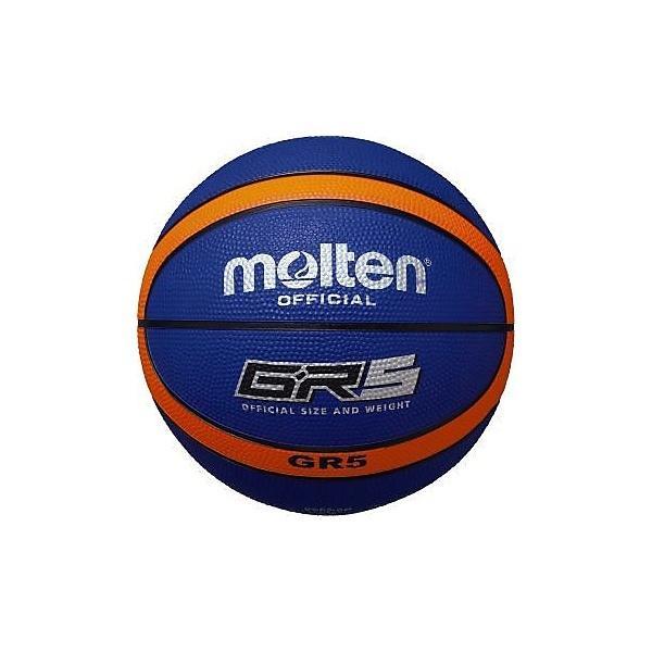 molten(モルテン)バスケットボール 5号ボール GR5 ゴムバスケットボール BGR5-BO ジュニア 5号球 ブルーxオレンジ