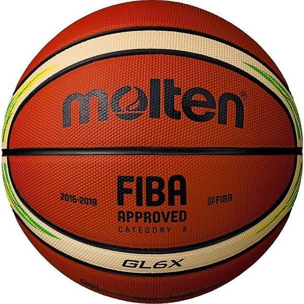 (送料無料)molten(モルテン)バスケットボール 6号ボール FIBA スペシャルエディション GL6X BGL6X-YG レディース 6号球 オレンジxアイボリー