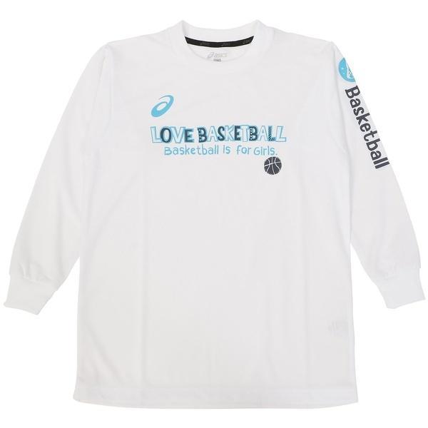 (セール)ASICS(アシックス)バスケットボール ジュニア 長袖Tシャツ 16F JR PRINT T LS 09 XB345N.01D ジュニア WHT