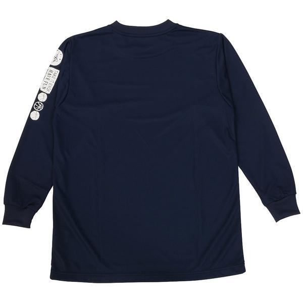 (セール)ASICS(アシックス)バスケットボール ジュニア 長袖Tシャツ 16F JR PRINT T LS 09 XB345N.50D ジュニア NVY