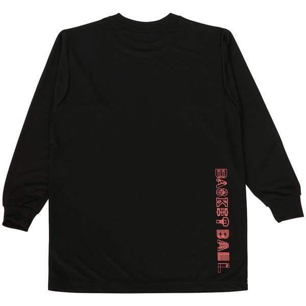 (セール)ASICS(アシックス)バスケットボール ジュニア 長袖Tシャツ 16F JR PRINT T LS 09 XB345N.90A ジュニア BLK