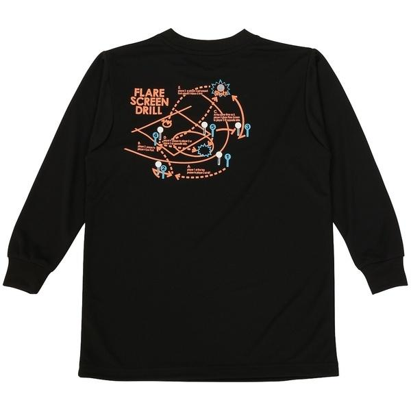 (セール)ASICS(アシックス)バスケットボール ジュニア 長袖Tシャツ 16F JR PRINT T LS 09 XB345N.90B ジュニア BLK