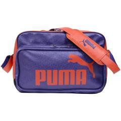 (セール)PUMA(プーマ)スポーツアクセサリー エナメルバッグ TS マット ASB タイプ B ショルダー 7240522 プリズム バイオレット/マンダリン レッド