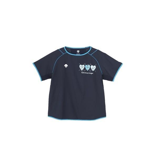 (セール)DESCENTE(デサント)バレーボール 半袖プラクティスシャツ バボちゃん半袖プラクティスシャツ DVA-3670W DNVY レディース DNVY