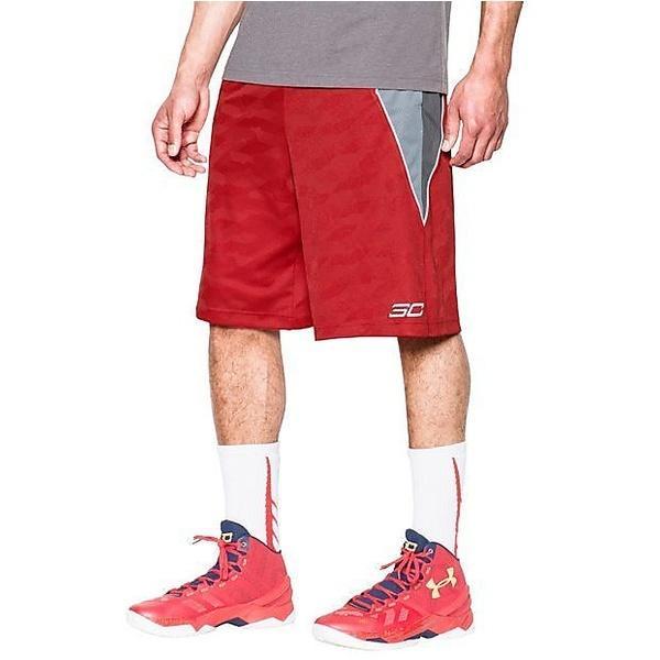 (セール)UNDER ARMOUR(アンダーアーマー)バスケットボール メンズ プラクティスショーツ UA SC30スピアショーツ #MBK3450 メンズ RED/GPH