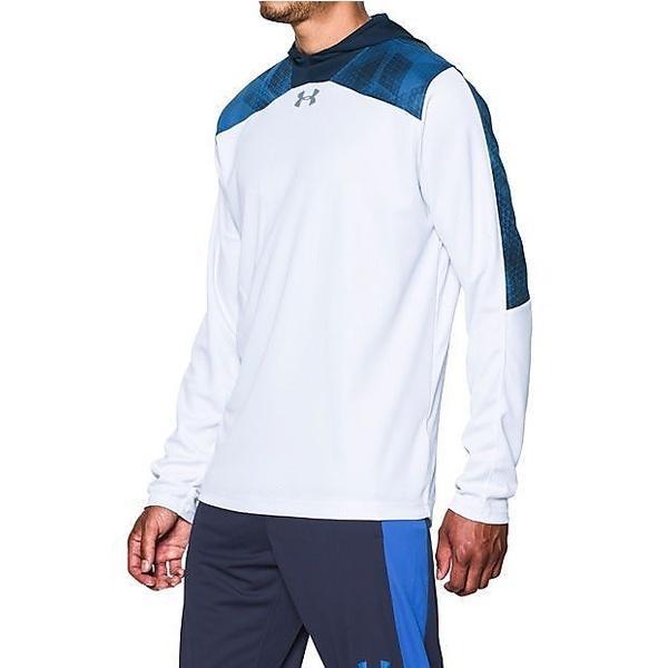 (セール)UNDER ARMOUR(アンダーアーマー)バスケットボール メンズ 長袖Tシャツ UAセレクトシューティングシャツ #MBK3977 メンズ WHT/MDN