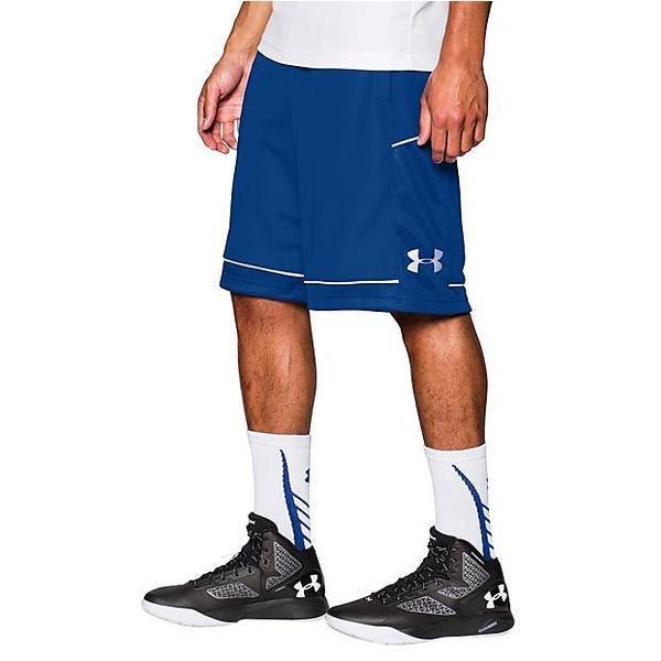 (セール)UNDER ARMOUR(アンダーアーマー)バスケットボール メンズ プラクティスショーツ UAベースラインショーツ MBK3449 44A メンズ RYL/RYL