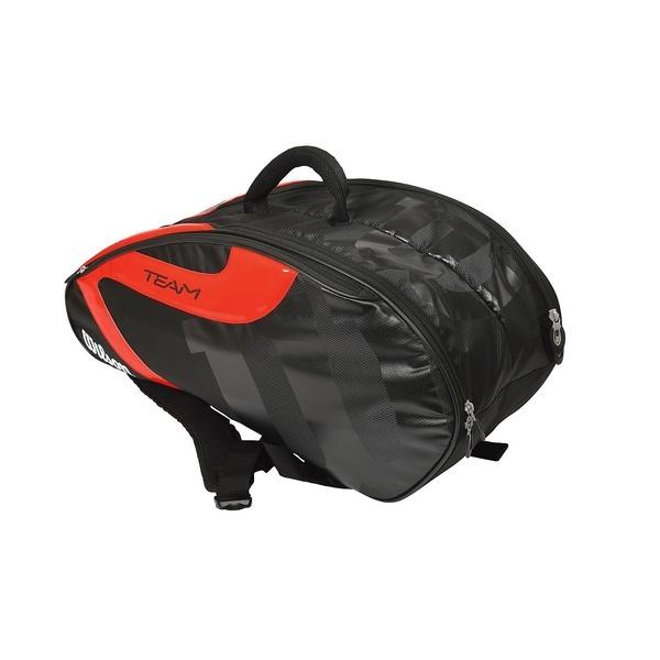 (セール)WILSON(ウィルソン)ラケットスポーツ バッグ ケース類 TEAM JP 6 PACK BKOR WRZ641706 BLACK/ORANGE