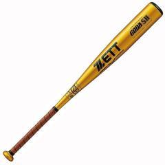 (送料無料)ZETT(ゼット)野球 少年軟式メタルバッド JR.ナンシキアルミバット GODA-SH  * BAT77720-8200 ゴールド