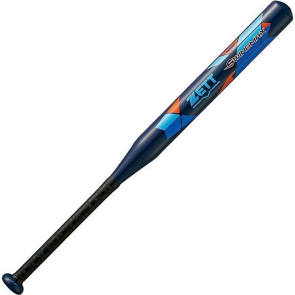 (送料無料)ZETT(ゼット)野球 少年ソフトボールバッド ソフト2ゴウアルミバット SWINGMAX BAT52722-2900 ネイビー
