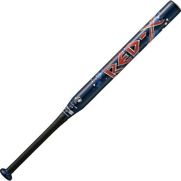 (送料無料)ZETT(ゼット)野球 少年ソフトボールバッド ソフト2ゴウアルミバット RED-X BAT52728-2900 ネイビー