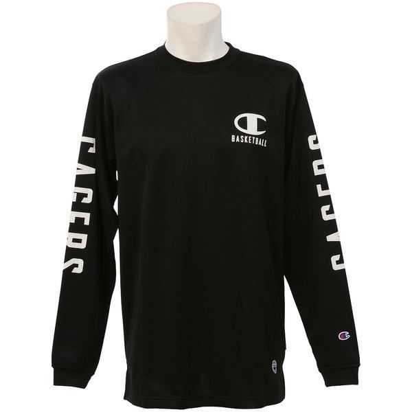 (セール)Champion(チャンピオン)バスケットボール メンズ 長袖Tシャツ TG LONG SLEEVE TEE C3-JB454 メンズ ブラック