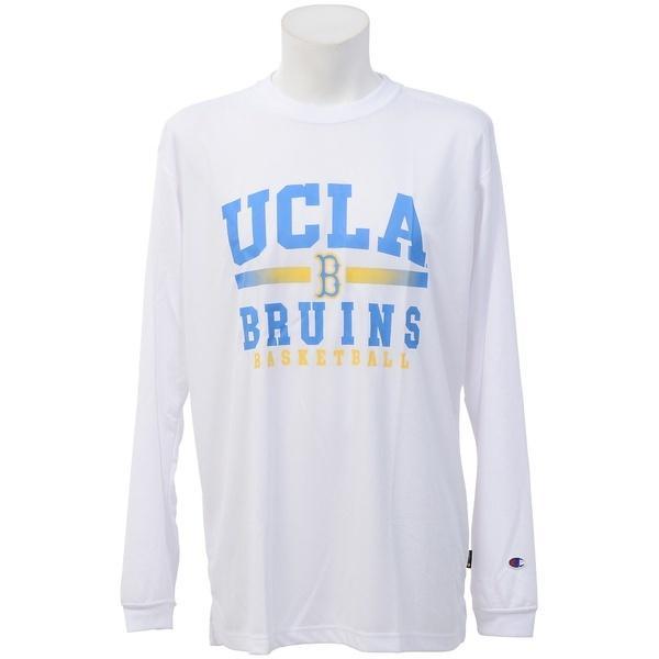 (セール)Champion(チャンピオン)バスケットボール メンズ 長袖Tシャツ UCLA LONG SLEEVE TEE C3-JB460 メンズ ホワイト