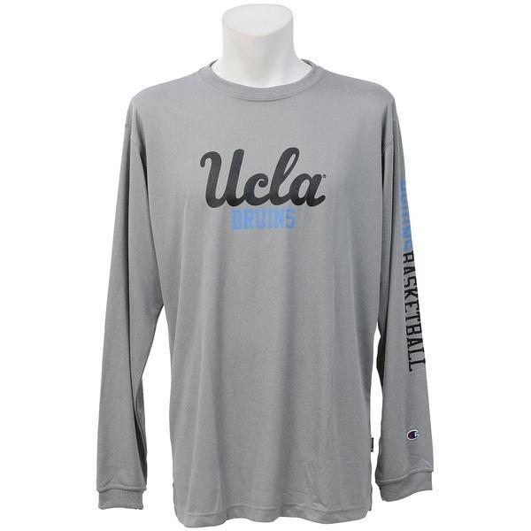 (セール)Champion(チャンピオン)バスケットボール メンズ 長袖Tシャツ UCLA LONG SLEEVE TEE C3-JB461 メンズ オックスフォードグレー