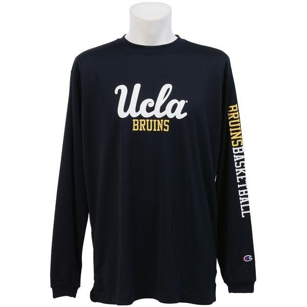 (セール)Champion(チャンピオン)バスケットボール メンズ 長袖Tシャツ UCLA LONG SLEEVE TEE C3-JB461 メンズ ネイビー