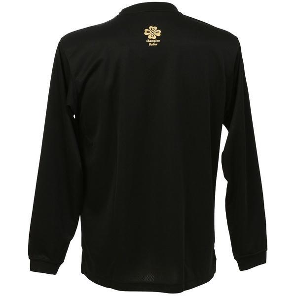 (セール)Champion(チャンピオン)バスケットボール メンズ 長袖Tシャツ PRACTICE LONG SLEEVE TEE C3-JB400 メンズ ブラックXゴールド