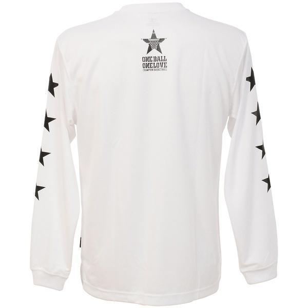 (セール)Champion(チャンピオン)バスケットボール メンズ 長袖Tシャツ PRACTICE LONG SLEEVE TEE C3-JB402 メンズ ホワイト