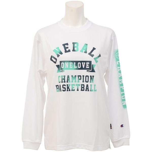 (セール)Champion(チャンピオン)バスケットボール レディース 長袖Tシャツ WOMENS LONG SLEEVE TEE CW-JB401 レディース ホワイト