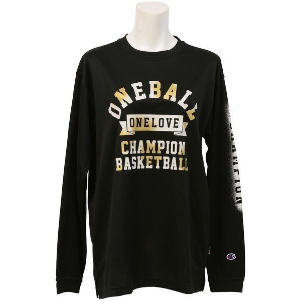 (セール)Champion(チャンピオン)バスケットボール レディース 長袖Tシャツ WOMENS LONG SLEEVE TEE CW-JB401 レディース ブラック