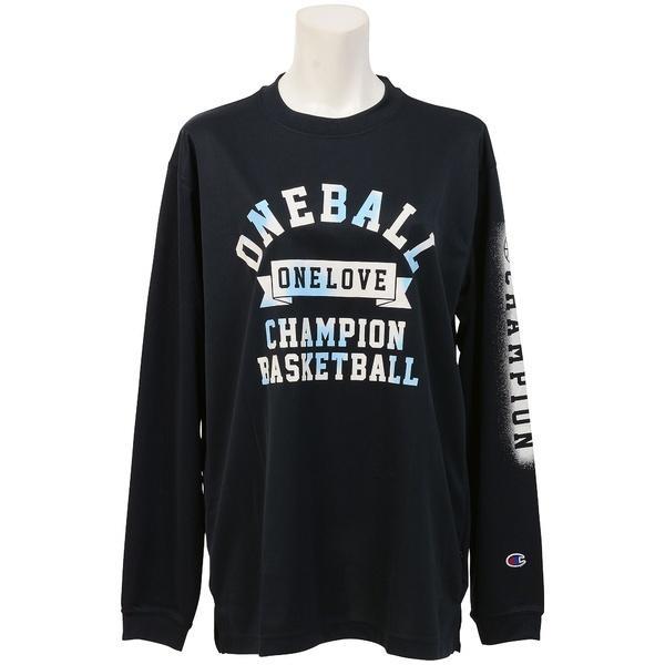 (セール)Champion(チャンピオン)バスケットボール レディース 長袖Tシャツ WOMENS LONG SLEEVE TEE CW-JB401 レディース ネイビー