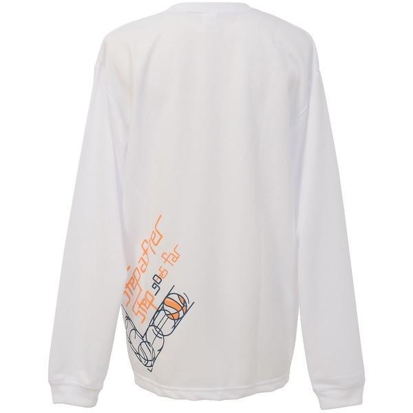 (セール)CONVERSE(コンバース)バスケットボール レディース 長袖Tシャツ ウィメンズプリントロングスリーブシャツ CB362305L-1100 レディース WHT