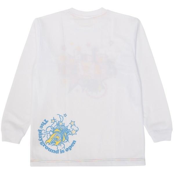(セール)CONVERSE(コンバース)バスケットボール ジュニア 半袖Tシャツ JR.プリントロングスリーブシャツ CB462303L-1100 ガールズ WHT