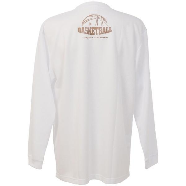 (セール)CONVERSE(コンバース)バスケットボール メンズ 長袖Tシャツ プリントロングスリーブシャツ CBC262317L-1100 メンズ WHT
