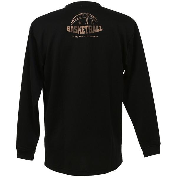 (セール)CONVERSE(コンバース)バスケットボール メンズ 長袖Tシャツ プリントロングスリーブシャツ CBC262317L-1900 メンズ BLK