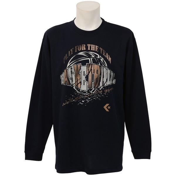 (セール)CONVERSE(コンバース)バスケットボール メンズ 長袖Tシャツ プリントロングスリーブシャツ CBC262317L-2900 メンズ NVY