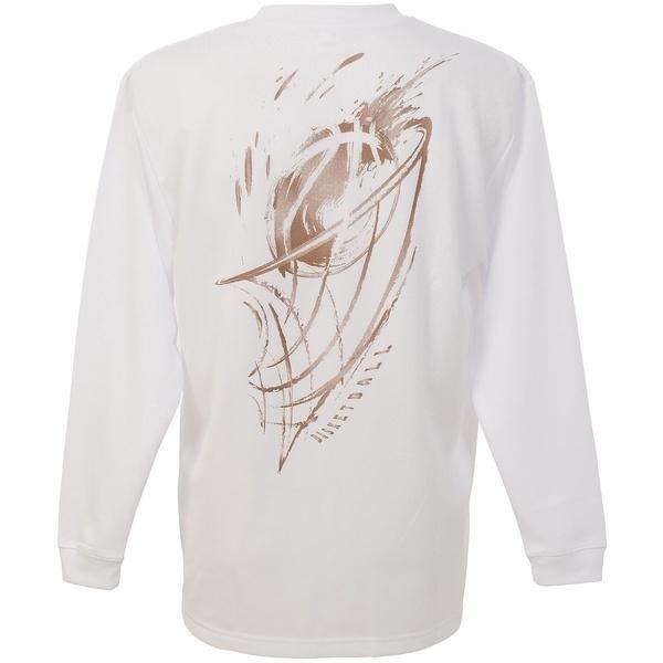 (セール)CONVERSE(コンバース)バスケットボール メンズ 長袖Tシャツ プリントロングスリーブシャツ CBC262318L-1100 メンズ WHT