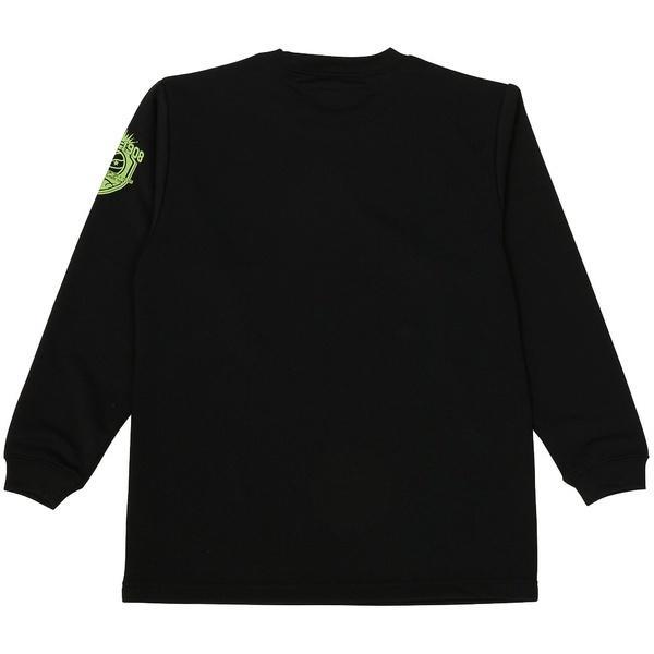 (セール)CONVERSE(コンバース)バスケットボール ジュニア 長袖Tシャツ JRプリントロングスリーブシャツ CBC462305L-1943 ジュニア BLK X GRN