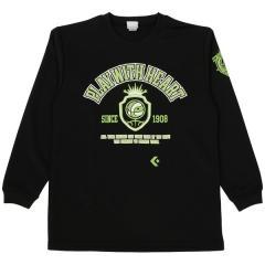 コンバース バスケットボール ジュニア 長袖Tシャツ JRプリントロングスリーブシャツ CBC462305L-1943 ジュニア BLK X GRN