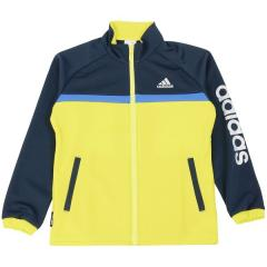 (セール)adidas(アディダス)ジュニアスポーツウェア ウォームアップジャケット BOYS ウォームアップ ジャケット MG 16 DMF18 BP6751 ボーイズ ショックスライム F16/カレッジネイビー