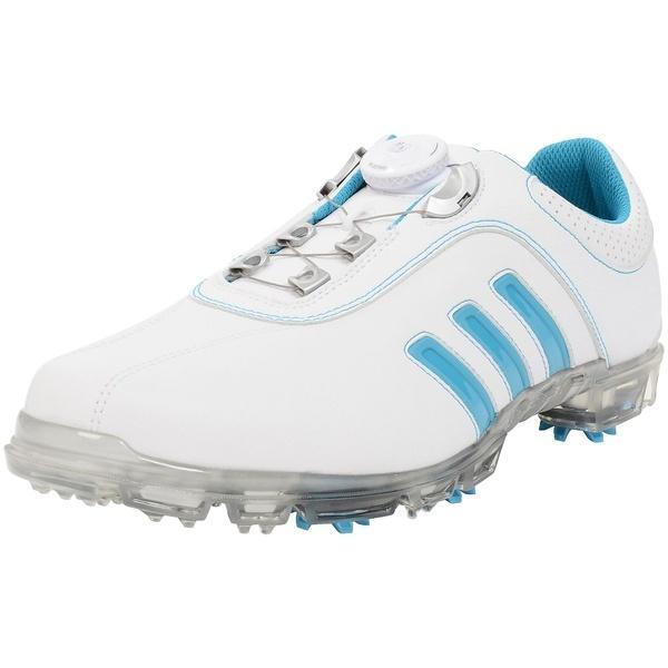 (セール)(送料無料)adidas(アディダス)ゴルフ メンズゴルフシューズ PURE METAL BOA Q44638 WH/SM メンズ ホワイト/ボールドアクア/シルバーメタリック