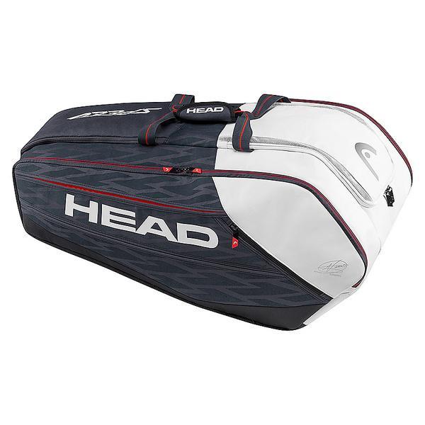 (セール)(送料無料)HEAD(ヘッド)ラケットスポーツ バッグ ケース類 DJOKOVIC 12R MONSTERCOMBI 283077 BKWH