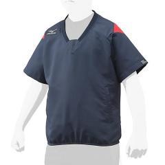 (セール)MIZUNO(ミズノ)野球 ジュニアウインドジャケット/コート ジュニアVジャンハンMBC17SS 12JE7V7314 ジュニア ディープネイビーxチャイニーズレッド