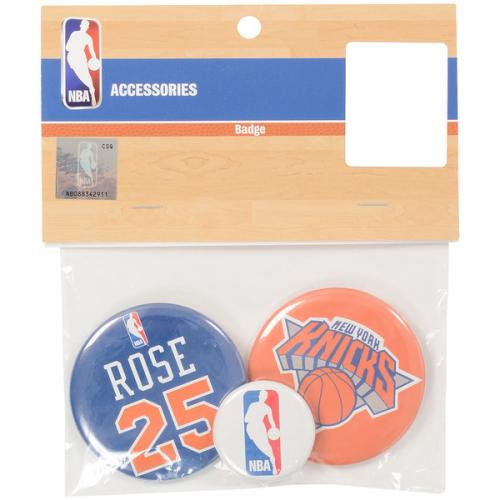 adidas(アディダス)バスケットボール アクセサリー 缶バッチ(3個セット)KN#25 NBA31150 RED