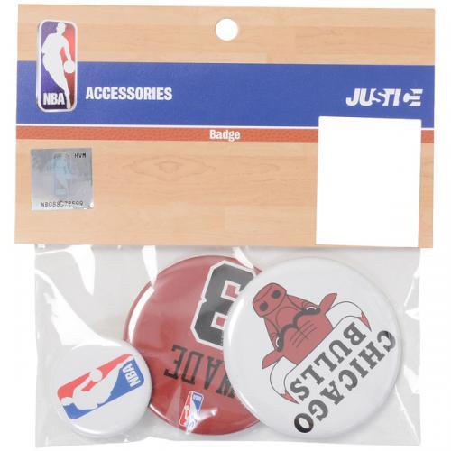 adidas(アディダス)バスケットボール アクセサリー 缶バッチ(3個セット)BU#3 NBA31151 RED