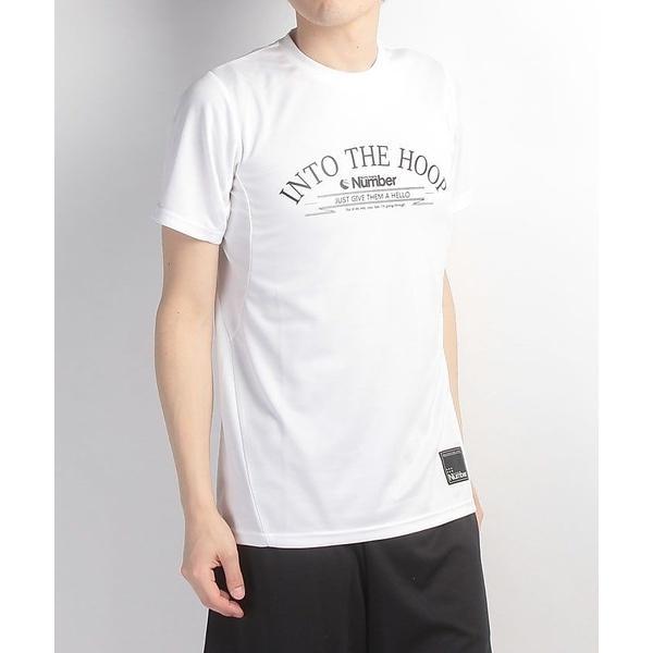 (セール)Number(ナンバー)バスケットボール メンズ 半袖Tシャツ デザインTEE INTO THE HOOP NB-S17-103-002 メンズ ホワイト