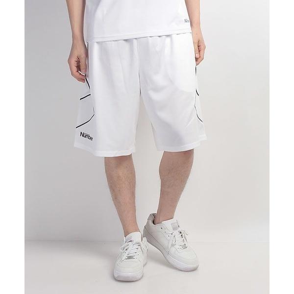 (セール)Number(ナンバー)バスケットボール メンズ プラクティスショーツ バスケットボールパンツ NB-S17-103-003 メンズ ホワイト