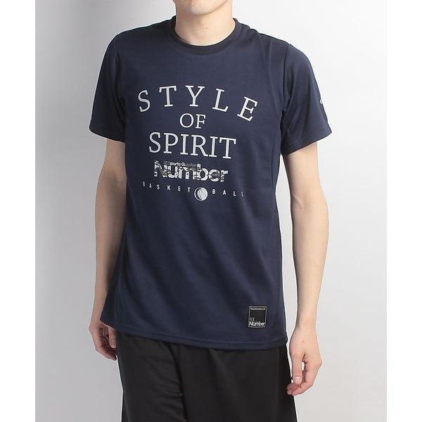 (セール)Number(ナンバー)バスケットボール メンズ 半袖Tシャツ デザインTEE STYLE OF SPIRIT NB-S17-103-004 メンズ ネイビー
