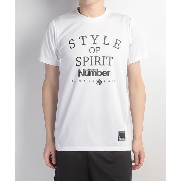 (セール)Number(ナンバー)バスケットボール メンズ 半袖Tシャツ デザインTEE STYLE OF SPIRIT NB-S17-103-004 メンズ ホワイト