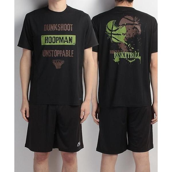(セール)s.a.gear(エスエーギア)バスケットボール メンズ 半袖Tシャツ 半袖グラフィックTEE HOOPMAN SA-S17-103-002 メンズ ブラック