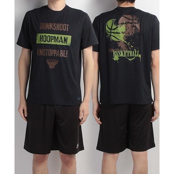 (セール)s.a.gear(エスエーギア)バスケットボール メンズ 半袖Tシャツ 半袖グラフィックTEE HOOPMAN SA-S17-103-002 メンズ ネイビー