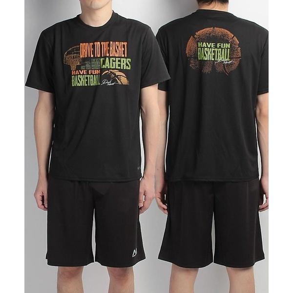 (セール)s.a.gear(エスエーギア)バスケットボール メンズ 半袖Tシャツ 半袖グラフィックTEE CAGERS SA-S17-103-004 メンズ ブラック